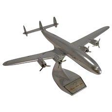 Lockheed Super H Constellation Plane Model - Flying Tiger Line c.1957