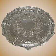 Exceptional Antique Pierced / Reticulated Elkington Plated Salver / Tray - 1858
