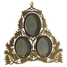 Magnificent Antique English Gilded Bronze Photograph Frame c.1880