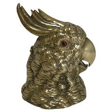 Grand Large Novelty English Inkwell - Parrot c.1880