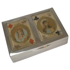 Antique English Sterling Silver Playing Card Box - 1899