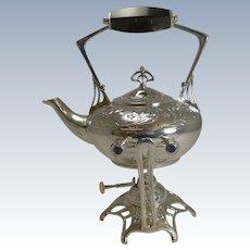 Magnificent Antique WMF Silver Plated Art Nouveau Spirit Kettle - 1910