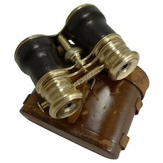 Antique English Triple Optic Binoculars - Marine / Theatre / Field c.1900