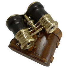 Antique English Triple Optic Binoculars - Marine / Theatre / Field c.1900