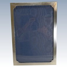 Smart Large Art Deco English Sterling Silver Photograph Frame - 1928
