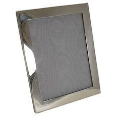 Smart Large Antique English Sterling Silver Photograph Frame - 1916