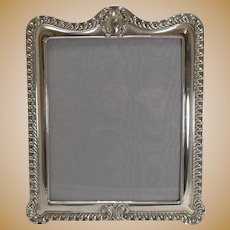 Grand Large English Sterling Silver Photograph Frame - 1903