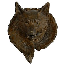 Magnificent Antique Cold Painted Vienna Bronze Inkwell - Fox c.1900