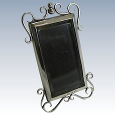 Small English Victorian Sterling Silver Photograph Frame - 1897