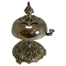 Antique English Desk or Counter Bell in Cast Brass c.1880