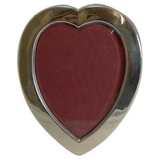 Romantic English Sterling Silver Heart Shaped Photograph Frame - 1899