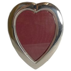English Victorian Sterling Silver Heart Shaped Photograph Frame - 1896