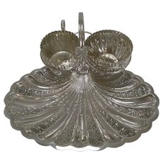 Antique English Silver Plated Strawberry Set by Roberts and Belk c.1900