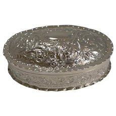 Large Victorian Sterling Silver Table Box - 1888