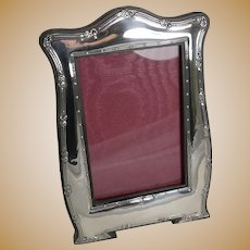 Antique English Art Nouveau Photograph Frame in Sterling Silver