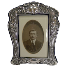 Outstanding English Sterling Silver Art Nouveau Photograph Frame - 1903