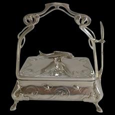 Art Nouveau WMF Silver Plated Sardine Dish c.1900