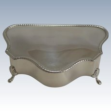 Antique English Sterling Silver Jewelry Box