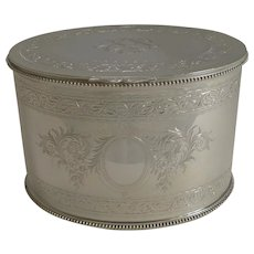 Top Notch Silver Plated Tea Caddy by Elkington and Co. - 1880