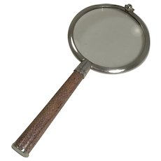 English Sterling Silver and Shagreen Magnifying Glass - 1929