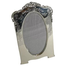 Pretty Antique English Sterling Silver Photograph Frame - 1905