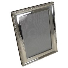 Quality Antique English Sterling Silver Photograph Frame by Deakin and Francis