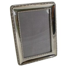 Smart Antique English Sterling Silver Photograph Frame - 1918