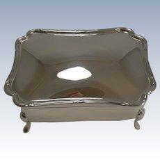 Elegant English Sterling Silver Jewelry Box - 1909