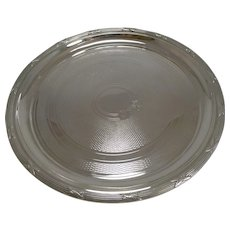 Handsome Antique English Engine Turned Tray / Salver c.1890 / 1900