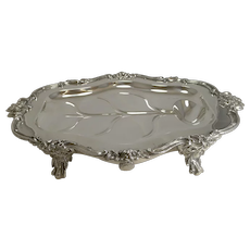 Magnificent Georgian Warming Meat Serving Dish in Silver Plate c.1820