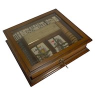 Antique English Games Box c.1890/1900