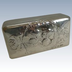 Antique English Sterling Silver Jewelry Box - Reynold's Angels - 1901