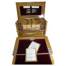 Grand Antique English Olivewood Writing Box / Cabinet c.1890