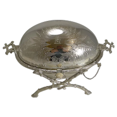Magnificent Antique English Revolving Breakfast Dish by Atkin Brothers c.1870