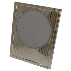 Smart and Elegant English Sterling Silver Photograph Frame - 1921