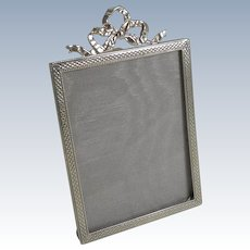 Pretty English Sterling Silver Photograph Frame - 1920
