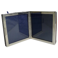 English Sterling Silver Double / Travel Photograph Frame by George Betjenmann & Sons