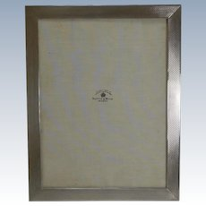 Large Engine Turned Sterling Silver Photograph Frame by Mappin & Webb
