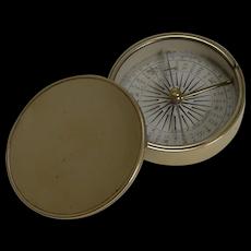 English Made Brass Cased Explorers Compass For Peter Orr, Madras c.1880