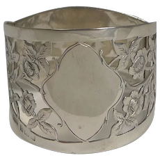 Pretty Antique English Sterling Silver Napkin Ring by Mappin Brothers - 1905