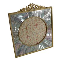 Exquisite French Gilded Bronze and Mother of Pearl Photograph Frame c.1890