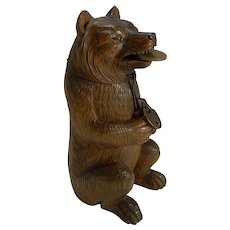 Antique Black Forest Bear Novelty Money Box or Bank c.1890