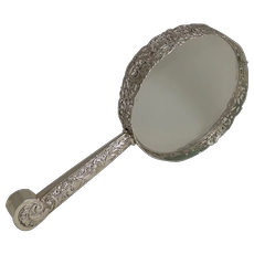 Huge Antique English Sterling Silver Magnifying Glass by Samuel Jacob - 1897