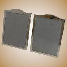 Elegant Pair Antique English Sterling Silver Photograph Frames - 1919