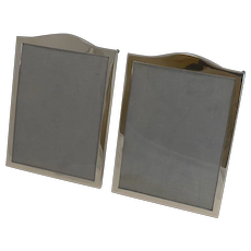 Elegant Pair Antique English Sterling Silver Photograph Frames - 1919
