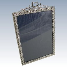 Antique English Sterling Silver Photograph Frame - 1899