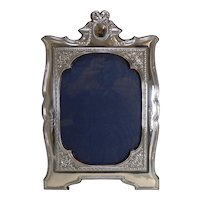 Magnificent and Grand English Sterling Silver Photograph Frame - 1910