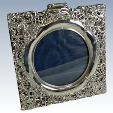Antique English Sterling Silver Photograph Frame by Henry Matthews - 1899