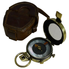 WW1 1915 British Army Officer's Compass - Verner's Patent MK VII by Cary, London