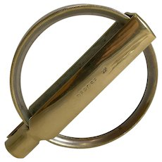 Large Antique French Folding Brass Magnifying Glass c.1900